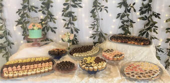 Picture wedding dessert table Bakery Dallas NC Gastonia NC Belmont NC