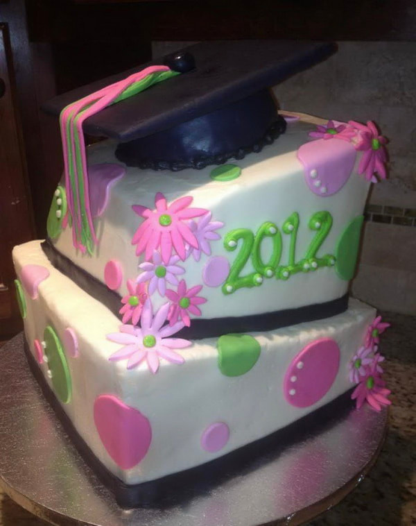 Picture Graduation Cake Bakery Desserts Specialty Cakes Dallas NC Gastonia NC